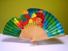 Hand Fan, Hands, Color, Painted Fan, Hand Fans, Umbrellas Parasols, Accessories, Sewing, Colour
