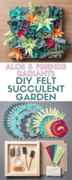 Aloe and Friends - Radiants   Apostrophe S Craft Kit   Felt Succulent Garden   Indoor   DIY