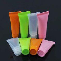 Venta al por mayor 100 unids crema envases de productos cosméticos de maquillaje caja de la botella de aceite botellas de colores FROST botellas de plástico 20 g / 30 g / 50 g / 100 g