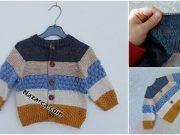 KALAN İPLERİ RENKLİ HIRKADA DEĞERLENDİRMEK Crochet Dinosaur Patterns, Baby Knitting Patterns, Knit Baby Dress, Organic Baby, Tulum, Quilts, Blanket, Sweaters, Dresses