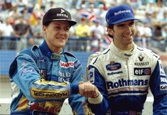 Michael Schumacher and Damon Hill in 1994