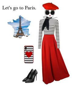 """Let's go to Paris."" by rikke-grankvist on Polyvore featuring Miss Selfridge, Off-White and Kate Spade"