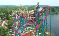 Serial Thriller (name changed to Thunderhawk in 2004 after I rode it)  at Geauga Lake & Wildwater Kingdom in Aurora, Ohio.