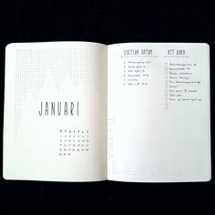 Bullet journal monthly cover page, January cover page, geometric design, line art. | @designbythildra