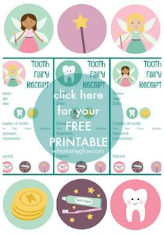 Where's My Glow? : Mind the gap (tooth smile) - with free printable tooth fairy receipt