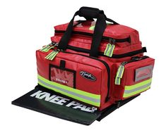Our professional trauma bag features optimum organzation and highly visible reflective pull tabs and trim. This trauma bag has replaceable bottoms, dual-density structural foam, all metal black nickel hardware, and strong nylon construction for the h