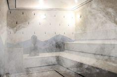 Sauna à Vapor: Como Construir Saunas, Sauna A Vapor, Sauna Steam Room, Greek House, Natural Swimming Pools, Small Pools, Dream Pools, Pool Decks, Pool Landscaping