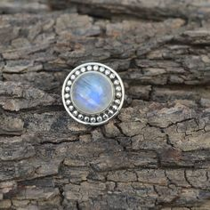 Natural Rainbow Moonstone Gemstone Solid 925 by Subhamjewels