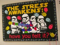 Love this board! The Stress Awakens-Have You Felt it? Star Wars Classroom, Classroom Themes, Ra Jobs, College Bulletin Boards, Interactive Bulletin Boards, Ra Themes, Ra Bulletins, Ra Boards, Res Life