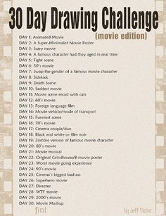 30 day drawing challenge-movie edition