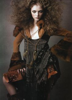 Vlada Roslyakova by Greg Kadel for Numéro n.66 September 2005