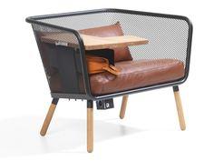 HONKEN WORKSTATION Leather small sofa Honken Collection by Bl� Station design Stefan Borselius, Thomas Bernstrand, B�rge Lindau