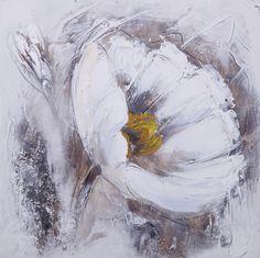 tableau peinture sur toile fleur telma 1 30x30cm