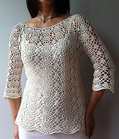 Ada Lacy Shells Top By Vicky Chan - Purchased Crochet Pattern - (ravelry)