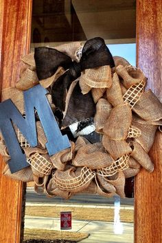 Love this burlap wreath!
