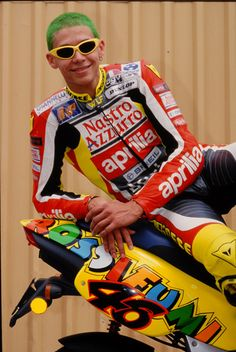 Rossifumi with his green hair and glasses lmao From: Home - Valentino Rossi - Official website
