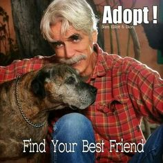 :)...Sam Elliot! Old dog with white muzzle are loveable too