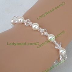 Swarovski Pearl Crystal Wedding Party Bracelet Quality