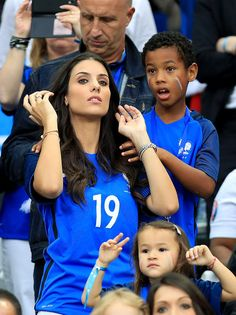 Ludivine Sagna et son filsLudivine Sagna in the stands during France v Romania - UEFA Euro 2016 - Group A in Paris, FrancePhoto by Mike Egerton/PA/ABACAPRESS.COM | 550544_002 Paris France