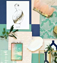 Farrow and Ball mood board with predictions for Autumn Winter 2015 by colour loving design blogger Geraldine Tan of blog Little Big Bell.