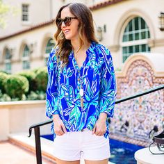 "We could not agree more… ""My summer fling with Lilly Pulitzer prints is in full effect, and I plan on keeping the romance going as long as possible!"" - @sidesmilestyle #Resort365"