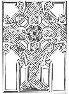advanced coloring page of celtics mosaic art to print for adults