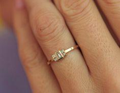Baguette Diamond Ring Baguette Engagement Ring Gold Baguette