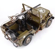 A wedding annivarsary present for jawad.. Goes on his bedside  Handmade Antique Model Kit Car-World War Two Willys Combat Jeep Two