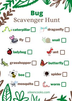 Camping Scavenger Hunts, Outdoor Scavenger Hunts, Nature Scavenger Hunts, Scavenger Hunt For Kids, Outdoor Summer Activities, Creative Activities For Kids, Outdoor Learning, Kindergarten Scavenger Hunt, Kindergarten Activities