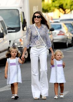 Princess Letizia of Spain and her daughters, Leonor (L) and Sofia (R) arrive to the Real Club Nautico de Palma during the 28th Copa del Rey Audi Sailing Cup on August 7, 2009 in Palma de Mallorca, Spain.