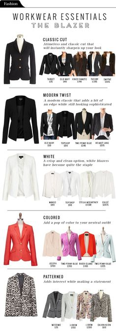 Fashion File: Workwear essentials - The Blazer - The Vault Files: NextStep Hub | Entrepreneur's Style Guide
