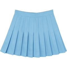 LIGHT BLUE PLEATED SKIRT ($13) ❤ liked on Polyvore featuring skirts, bottoms, light blue skirt, light blue pleated skirt, knee length pleated skirt, pleated skirts and blue skirt