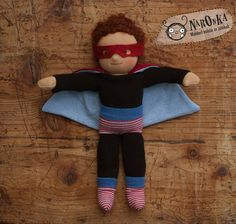 Waldorf super hero doll textile doll for boys 30 cm / by naronka