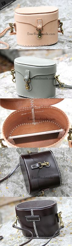 Handmade bucket purse leather crossbody bag purse shoulder bag for