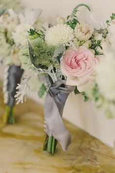 A simple, whimsical bridesmaid bouquet. Floral design by Violetta.