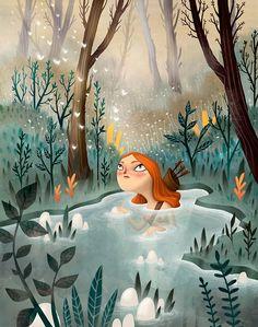 Nimue by Ana Varela, via Behance