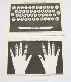 Speed Typing Chart Vintage Illustration by PaperPlaypen Computer Literacy, Computer Lessons, Computer Class, Speed Typing, Administrative Assistant, Transcription, Kids Education, Ephemera, Basteln
