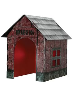 build a dog house prop for skelly dog or cerberus