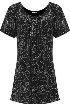 Britta Glitter Floral Print Top Find this gorgeous item at https://www.wearall.com/