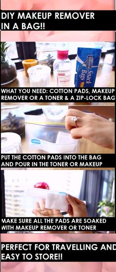 DIY MAKEUP REMOVER IN A BAG? WHAAAT? This is a really simply but really useful hack!