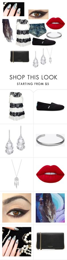 """""""Untitled #400"""" by haleyhuff736 ❤ liked on Polyvore featuring TOMS, Plukka, Maison Margiela, Lucky Brand, Lime Crime and Marc Jacobs"""