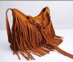 BOHO Retro Purse Fringe Handbag Bag Crossbody brown