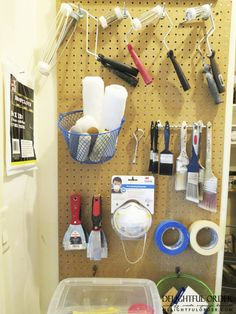 Delightful Order: Organizing the Garage (Paint & Paint Supplies)