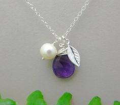 Hey, I found this really awesome Etsy listing at https://www.etsy.com/listing/85779837/personalized-necklace-amethyst