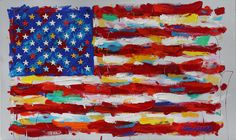 John Stango •FLAG •24 X 40 •Acrylic on Canvas // 408.888.1500 // jcos.hello@gmail for acquisition info