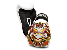 TUFF Muay Thai Gloves Dragon White [TUF-GV-DRAGON-WHT]