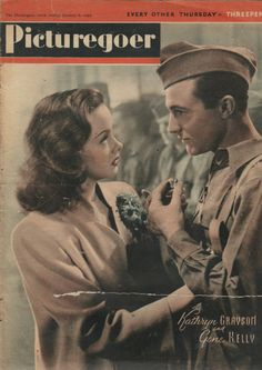 Kathryn Grayson and Gene Kelly on the cover of 'Picturegoer' magazine, January 8, 1944.
