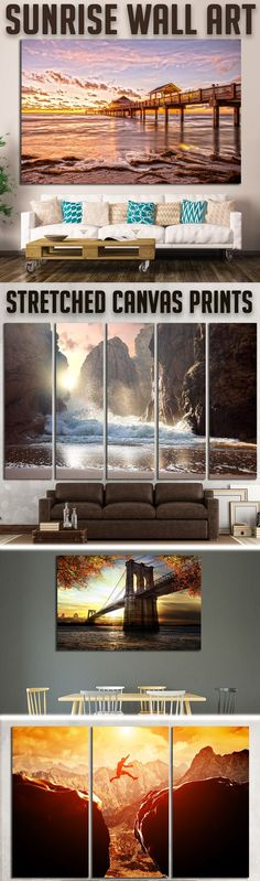 Modern Sunrise Wall Art for Home & Office decoration.