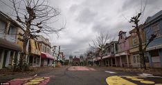 Ghost town: The once jolly mock-up American town in Nara Dreamland now looks cold and uninviting