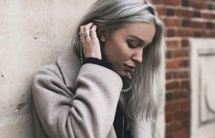 Shoulder Lenght Hair Silver Gray Hair Dye for Women